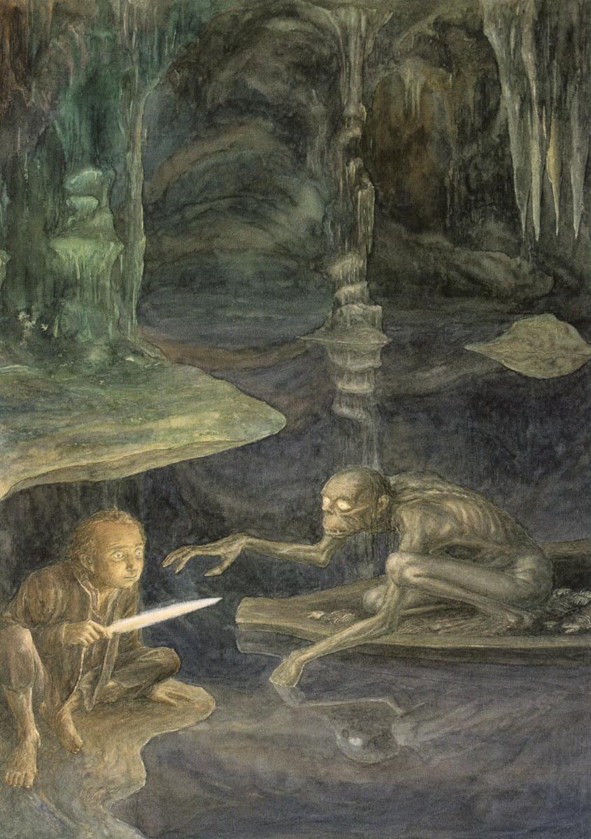 Alan Lee, Riddles in the Dark, acquarello