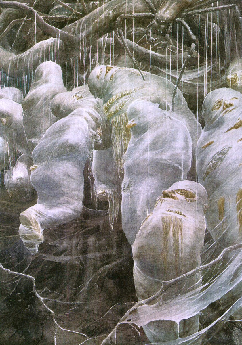 Alan Lee, Captured by Spiders, acquarello
