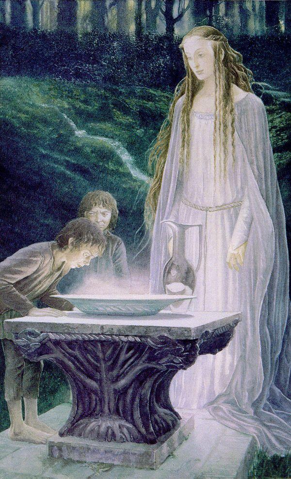 Alan Lee, Mirror of Galadriel, acquarello
